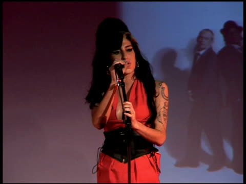 Amy Winehouse at the Q Awards Arrivals at London England
