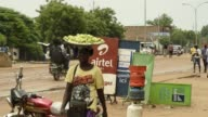 An advertisement for Bharti Airtel Ltd telecom services stands on a roadside in N'Djamena Chad on Tuesday Aug 15 2017
