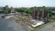 An aerial view of crematory's wreckage of Japanese Germ Factory on May 19 2017 in Harbin China This Japanese Germ Factory was built and run by...