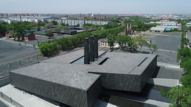 An aerial view of the Exhibition Hall Of Crime Evidence Of Japanese Germ Factory on May 19 2017 in Harbin China This Japanese Germ Factory was built...