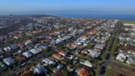 An aerial view of the wealthy coastal suburb of Williamstown Melbourne.
