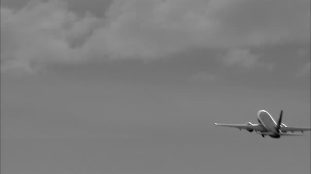 An airplane departures Sweden.