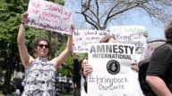 An Amnesty International organized vigil is held in heart of Washington in support of the abducted Nigerian school girls and their families