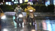 An eight year old girl and her mother died after being swept out to sea off Taiwan as Typhoon Soudelor bore down on the island forcing thousands to...