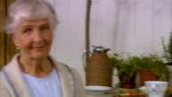 An elderly woman Stockholm Sweden.