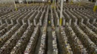 An employee stows items at the Amazoncom Inc fulfillment center in Phoenix Arizona US Wideshots of Amazoncom fulfillment center warehouse Rows and...