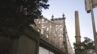 An establishing shot of New York City's Queensboro Bridge on a warm, summer afternoon.