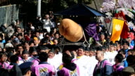 An estimated 88000 spectators lined a procession route and filled the grounds of Tagatajinja shrine in Komaki Aichi Prefecture as a team of local men...