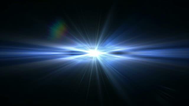 An event horizon shoots light (Loop).