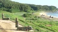 An M270 Multiple Launch Rocket System from A Battery 6th Battalion 37th Field Artillery Regiment 210th Field Artillery Brigade 2nd Republic of...