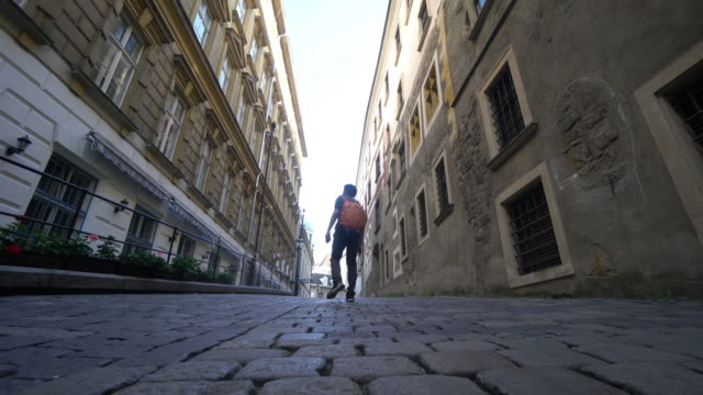 An urban man walk on the street