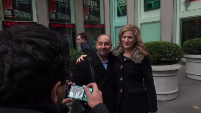 Ana Gasteyer exits FOX friends and poses with fans in Celebrity Sightings in New York