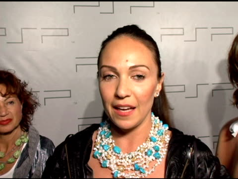 Ana Reign on her jewelry donating money to charity her inspiration and on her designs at the PretaPSP Accessories Show at Pacific Design Center in...