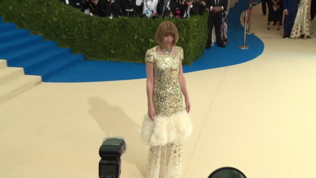 Ana Wintour at 'Rei Kawakubo/Comme des Garcons Art Of The InBetween' Costume Institute Gala Arrivals at The Metropolitan Museum of Art on May 01 2017...