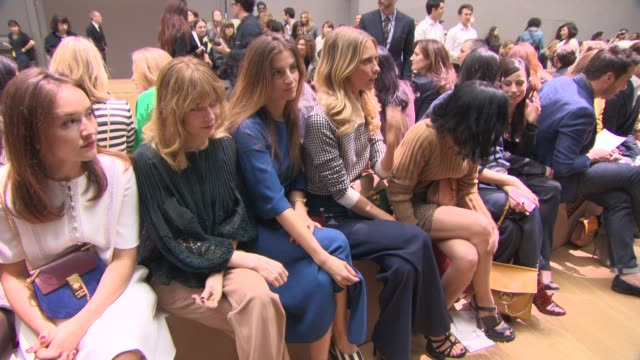 Anais Demoustier Sonia Sieff Poppy Delevingne Leigh Lezark at Chloe PFW A/W 2015 at Grand Palais on March 08 2015 in Paris France