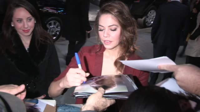 Analeigh Tipton greets fans while departing the Warm Bodies Premiere in Hollywood 01/29/13