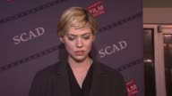 INTERVIEW Analeigh Tipton talks about getting to speak with young actors at SCAD Presents 17th Annual Savannah Film Festival at SCAD Presents 17th...
