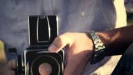 Analog Fotograf auf street