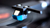analog stereo turntable vintage vinyl close up