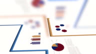 Analyzing Sales Data Report from Global Customer Statistics. Finance Economy Animation Background