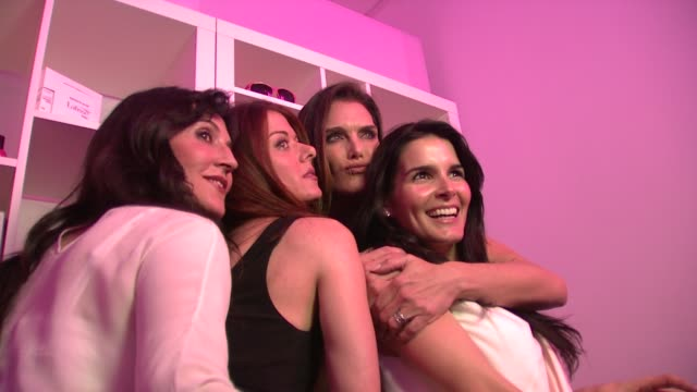 Anastasia Soare Debra Messing Brooke Shields Angie Harmon at the Launch Party for Latisse at Los Angeles CA