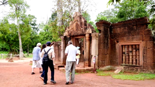 Ancient buddhist khmer temple in Angkor Wat, Cambodia. Banteay Srey Prasat