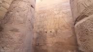 Ancient Egyptian hieroglyphics, tilt up