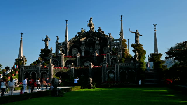 Ancient Garden on the island of Lake Maggiore