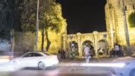 Ancient gate of Roman emperor Adrian at Antalya city center, Turkey