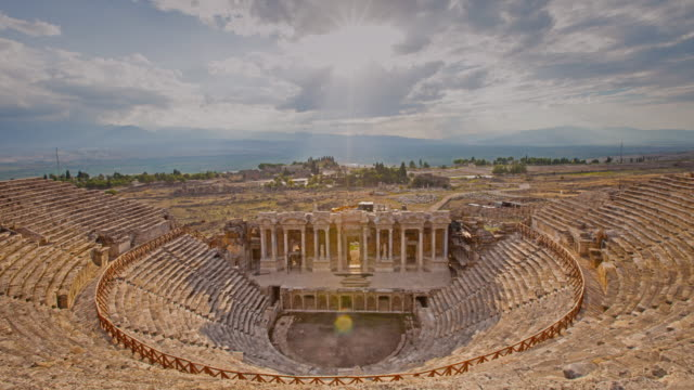 Ancient Hierapolis, Pamukkale, Denizli, Turkey