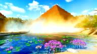 Ancient pyramids on desert