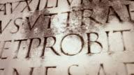 Ancient Roman Latin Script Panning