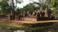 WS Ancient temple with pond in foreground / Angkor Wat, Siem Reap, Cambodia