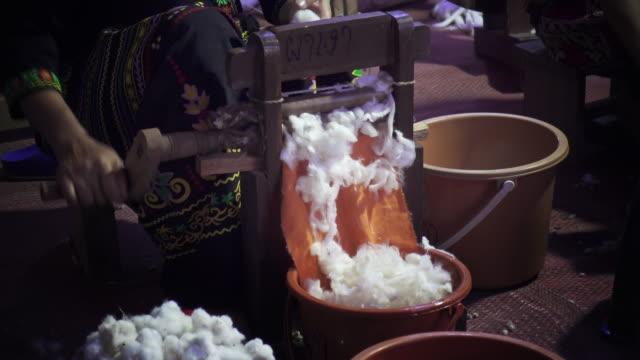 Ancient Thai hand weaving cotton