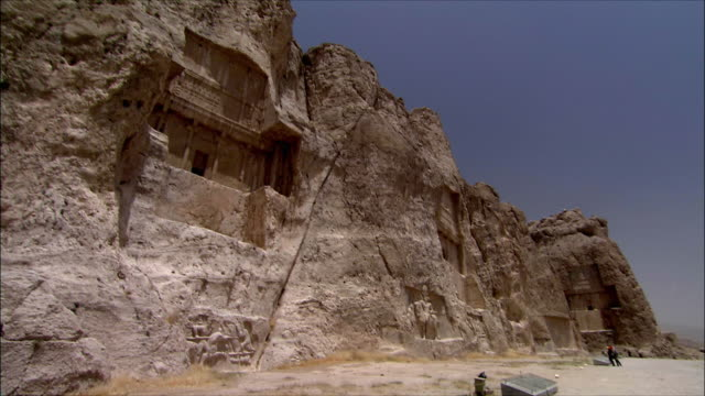 WS TU LA Ancient tomb carved in rock, Near Persepolis, Iran