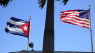 US and Cuban Flags
