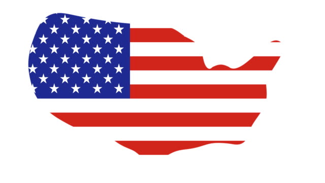 US MAP : and flag (TRANSITION)