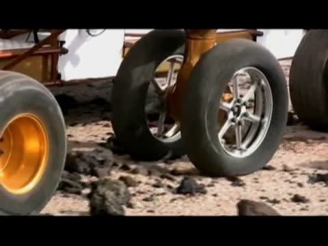 / NASA and Goodyear develop airless tire to transport large longdistance vehicles across the surface of the Moon / tires consist of a network of...