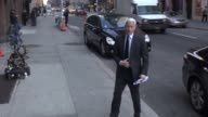 Anderson Cooper arrives at the Late Show with David Letterman in Celebrity Sightings in New York 01/09/14
