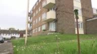 Three men jailed Andre Aderemi murder Three men jailed Croydon GVs Monks Hill housing estate where Andre Aderemi killed Balcony of flat London ITN...