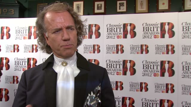 Andre Rieu on his award performing sex and more at Classic BRIT Awards at Royal Albert Hall on October 2 2012 in London England