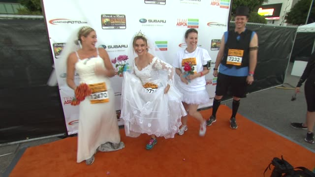Andrea Barber at Celebrities participate in the Halloween Themed Rock ÕnÕ Roll Los Angeles Half Marathon benefiting the ASPCA on 10/28/12 in Los...