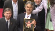 Andrea Bocelli at the Andrea Bocelli Honored With A Star On The Hollywood Walk Of Fame at Hollywood CA