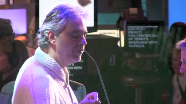 Andrea Bocelli at the 'Good Morning America' studio in New York on 12/6/2011
