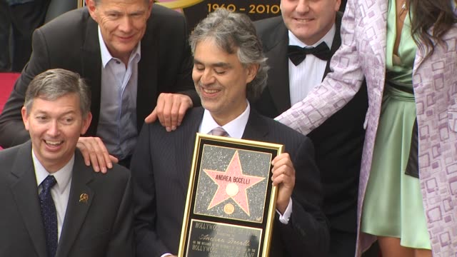 Andrea Bocelli Honored With A Star On The Hollywood Walk Of Fame Hollywood CA United States 4/5/10