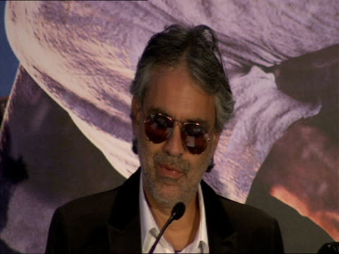 Andrea Bocelli on his favourite Christmas songs and this films creation of a new Christmas song at the A Christmas Carol Press Conference at London...