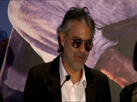Andrea Bocelli on the exciting experience of being involved in the film at the A Christmas Carol Press Conference at London England