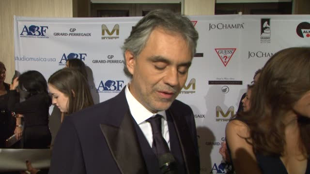 Andrea Bocelli on what the evening represents for his foundation what he hopes to accomplish with his foundation at Andrea Bocelli Foundation's 2011...