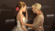 Andrea Riseborough Helen Mirren at the BAFTA Los Angeles 2011 Britannia Awards at Beverly Hills CA