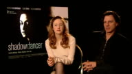 Andrea Riseborough on her character researching James Marsh at Shadow Dancer interviews at Ritz Carlton on February 12 2012 in Berlin Germany